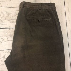 Incotex W34 x L28 Brown Straight Corduroy Pants